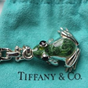 Tiffany & Co. Sterling/Enamel Frog Keychain